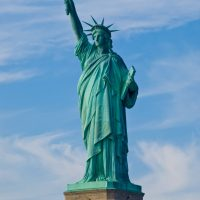 Side-View-Of-Statue-of-Liberty